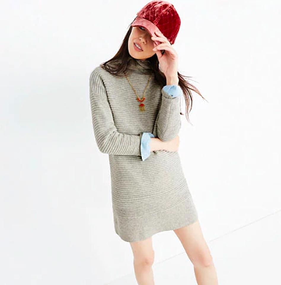 8217f3d5864 Madewell Heather Pebble Skyscraper Sweater Mid-length Short Casual ...