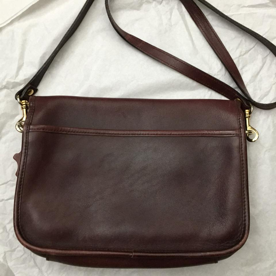 Croft Barrow Classic Saddle Brown Leather Cross Body Bag
