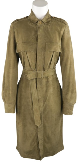 Preload https://img-static.tradesy.com/item/23201489/ralph-lauren-collection-olive-suede-safari-mid-length-short-casual-dress-size-8-m-0-1-650-650.jpg