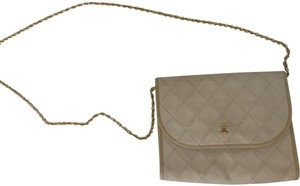 Chanel Vintage Leather Gold Hardware Cross Body Bag