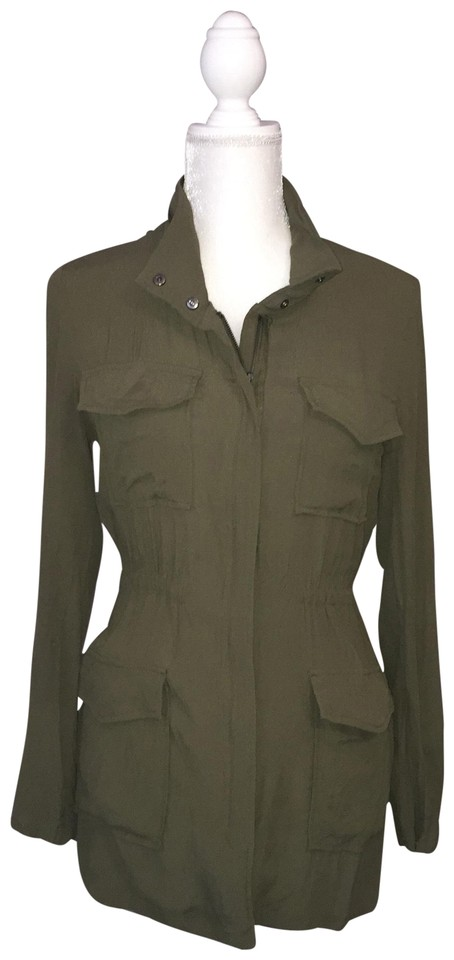 c5500c4d087 Love Stitch Green Military Tunic Blouse Size 6 (S) - Tradesy