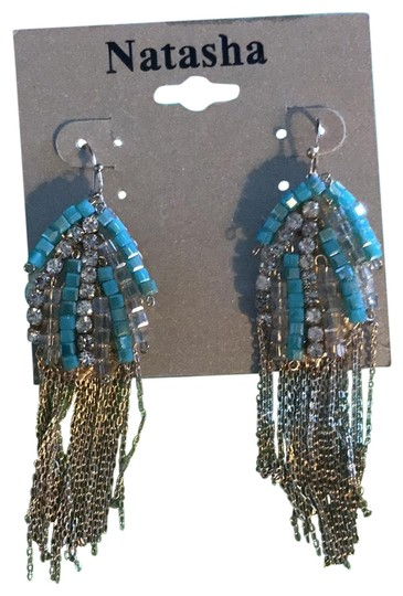 Preload https://img-static.tradesy.com/item/23201786/beaded-and-crystals-gold-chain-earrings-0-1-540-540.jpg