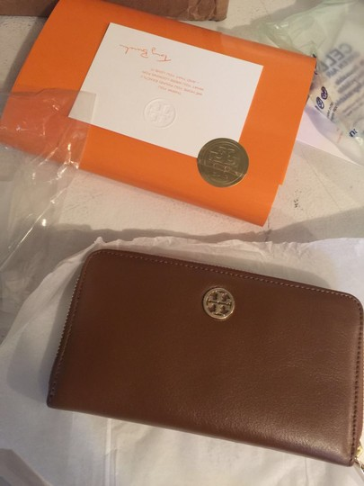 Tory Burch Tory Burch Dena Zip Continental Leather Wallet Luggage Image 1