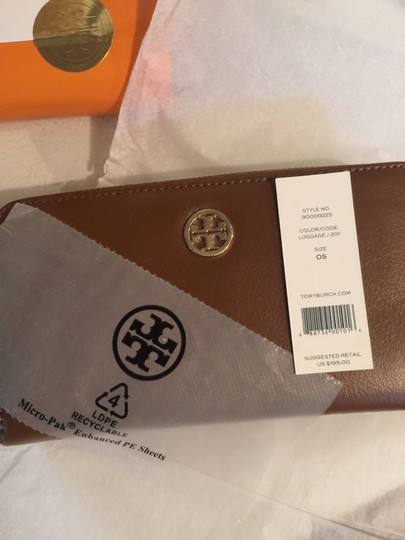 Tory Burch Tory Burch Dena Zip Continental Leather Wallet Luggage Image 2