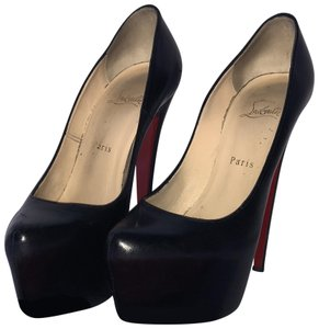 Christian Louboutin Leather Daffodile Hidden Stiletto Black Platforms