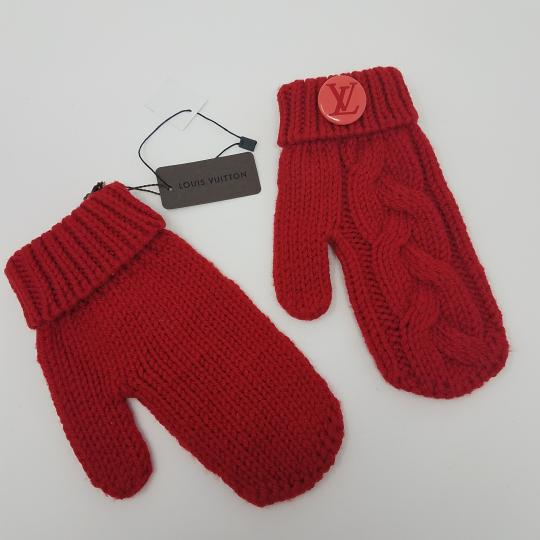 Louis Vuitton Red Louis Vuitton wool Contance mittens Image 3