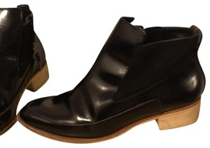 10 Crosby Derek Lam Pointed Toe Leather Suede Ankle BLACK Boots