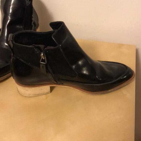 10 Crosby Derek Lam Pointed Toe Leather Suede Ankle BLACK Boots Image 1