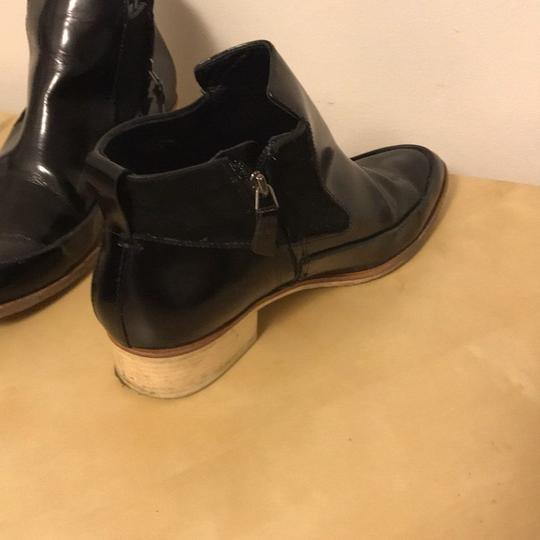 10 Crosby Derek Lam Pointed Toe Leather Suede Ankle BLACK Boots Image 3