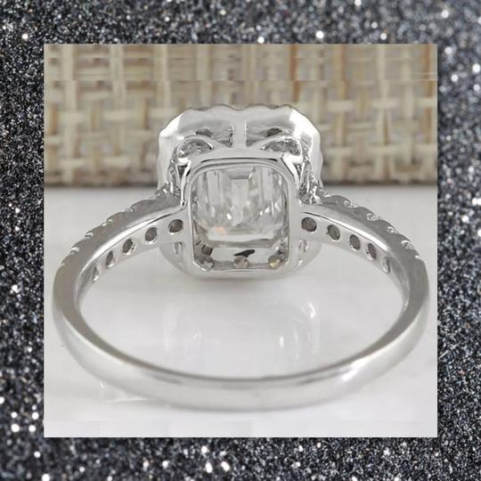 Other New Emerald Cut 925 Sapphire Ring Image 2