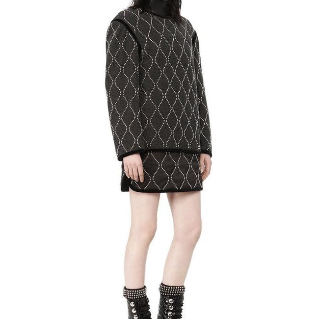 Alexander Wang Quilted Studded Melange Runway Sweater Image 4