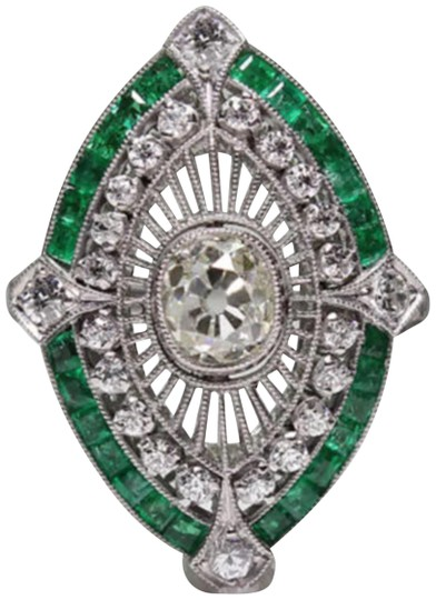 Preload https://img-static.tradesy.com/item/23202139/925-silver-and-green-new-emerald-white-sapphire-ring-0-1-540-540.jpg