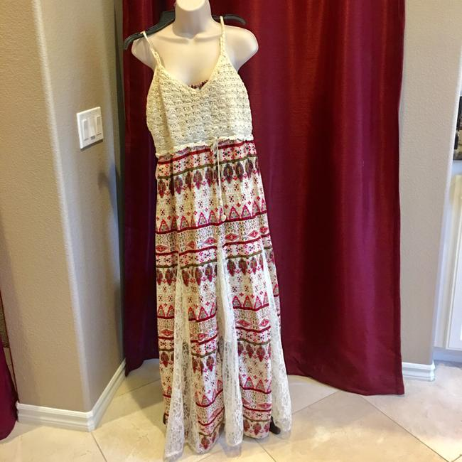 beige and rose Maxi Dress by Other Image 5