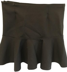 H&M Peplum Mini Skirt Black