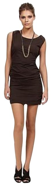 Diane von Furstenberg Chocolate Brown Dvf Jaymes Stretch Poplin Sleeveless Short Casual Dress Size 0 (XS) Diane von Furstenberg Chocolate Brown Dvf Jaymes Stretch Poplin Sleeveless Short Casual Dress Size 0 (XS) Image 1