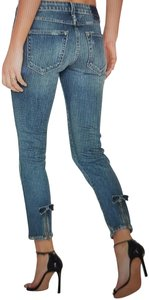AMO Capri/Cropped Denim-Medium Wash
