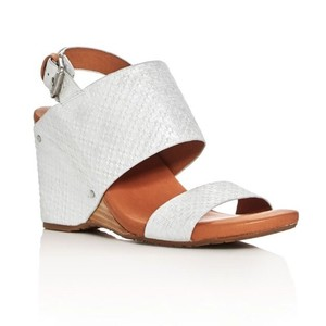 Gentle Souls Silvery White Wedges