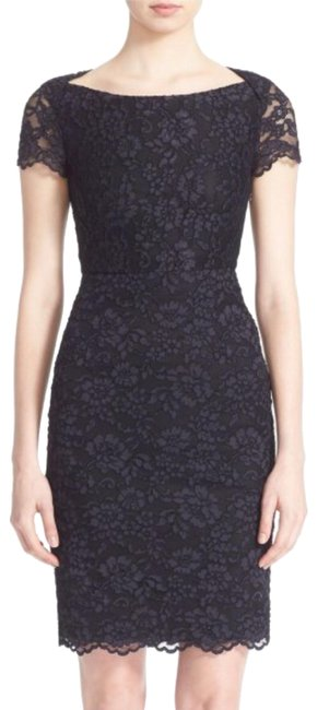 Diane von Furstenberg Black Ainsley Lace Sheath Short Cocktail Dress Size 4 (S) Diane von Furstenberg Black Ainsley Lace Sheath Short Cocktail Dress Size 4 (S) Image 1