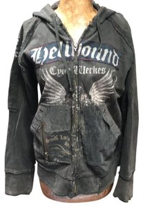 Salvage distressed black Jacket