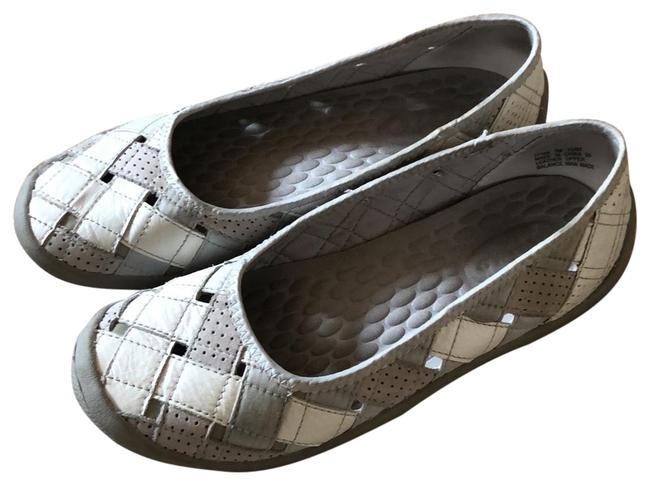 Privo Shades Of Gray and White Flats Size US 7 Regular (M, B) Privo Shades Of Gray and White Flats Size US 7 Regular (M, B) Image 1