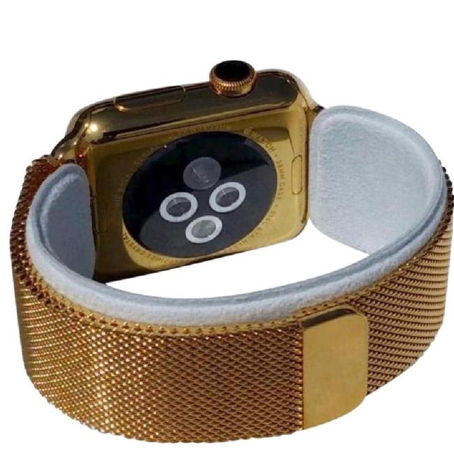 Item - 24k Gold Plated Over Stainless Steel 42mm Watch