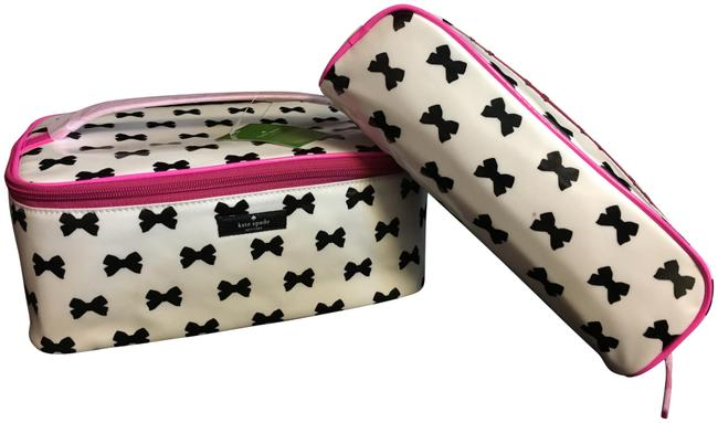 Item - Cream/Black/Pink Daycation Large Colin Cosmetic Bag