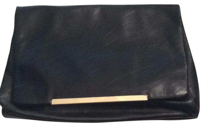 Item - Large Black Faux Leather Clutch