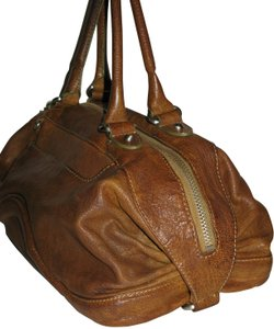 Botkier Leather Hobo Leather Satchel in Weathered Saddle Brown