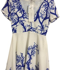 Lucy Paris short dress white and blue on Tradesy