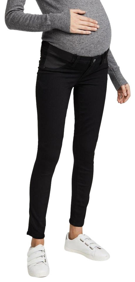 ee85601fb7e74 Paige Black Shadow Transcend Verdugo Ultra Maternity Denim Size 27 ...