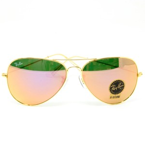 8f01c051ed Ray-Ban Signature RB3026 viator Full Color Gold   Brown Frame Sunglasses  58mm