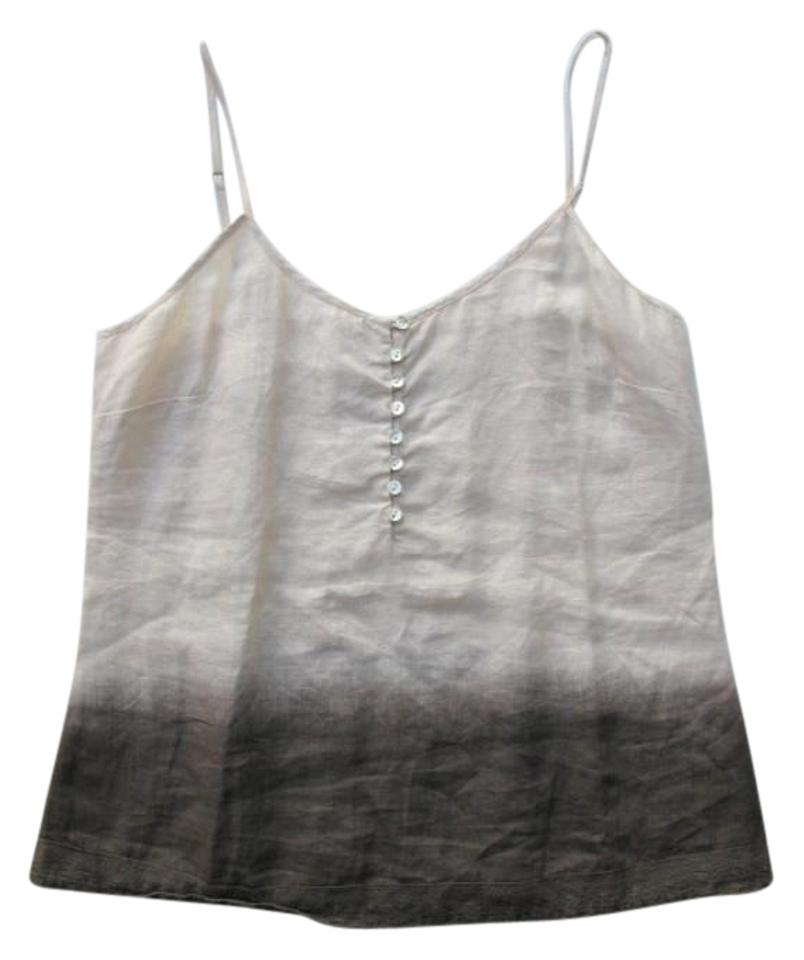 5b197976b657b Banana Republic Cream To Brown Ombre Heritage Linen Camisole Tank ...