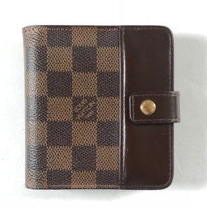 Louis Vuitton Louis Vuitton Damier Ebene Canvas Compact Zippe Wallet