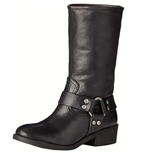 Lucky Brand Motorcycle Biker Black Boots