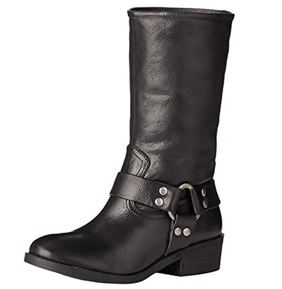 Lucky Brand Mechanic Black Rolanda Rubber Sole Mechanic Brand Motorcycle Biker Boots/Booties a0668a