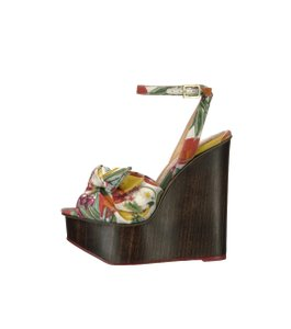 Charlotte Olympia Ankle Strap Platform Multi color Wedges