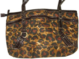 863e96561f3d Franco Sarto Animal Print Nylon Vegan Leather Tote in Leopard