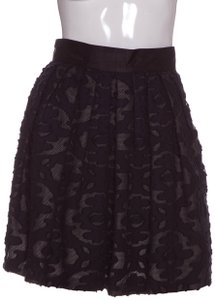 Brian Reyes Mini Skirt Black & Navy