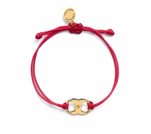 Tory Burch New Tory Burch Embrace Ambition Silk Gemini Bracelet Red
