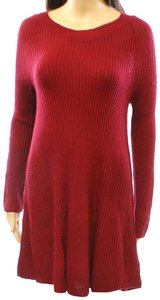 Cotton Emporium short dress Red A-line Xs Sweater Short on Tradesy