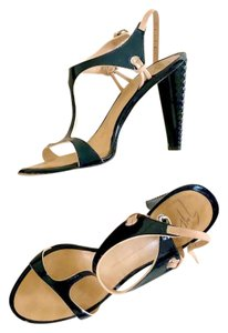 Giuseppe Zanotti Harmony Strappy black patent with beige details Sandals