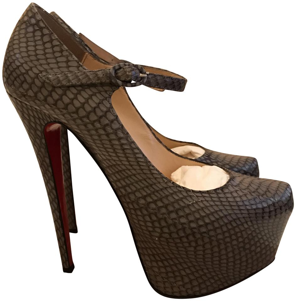Christian Daffodils Louboutin Cobra Grey Lady Daffodils Christian 160mm Platforms 6e6459