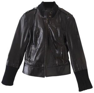Mackage Fitted French Classic Lambskin Leather Jacket
