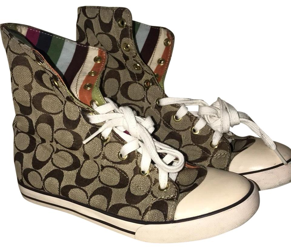 4a1af227e3a48 Coach Brown and Inside Is Colorful High Tops Sneakers Size US 8.5 Regular  (M, B) 8% off retail