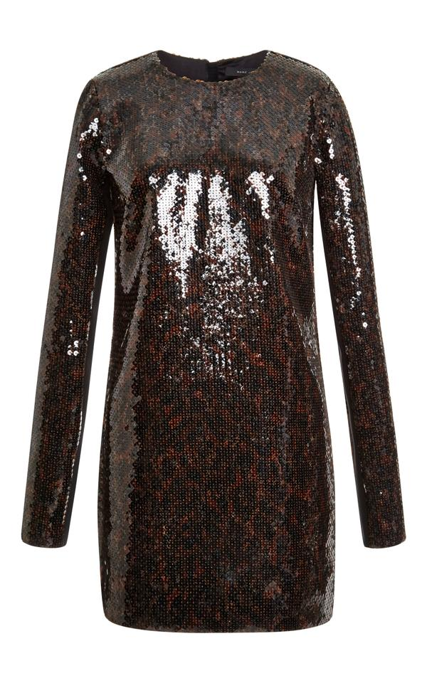 d5ee620cdf0f Marc Jacobs Brown Leopard Sequin Long Sleeve Night Out Dress. Size  6 ...