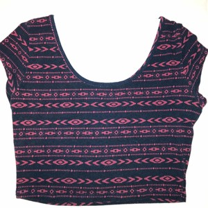 Charlotte Russe Top Navy & Red