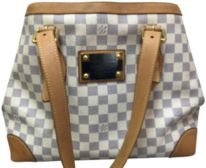 Louis Vuitton Damier Azur Hampstead Mm Canvas Shoulder Bag