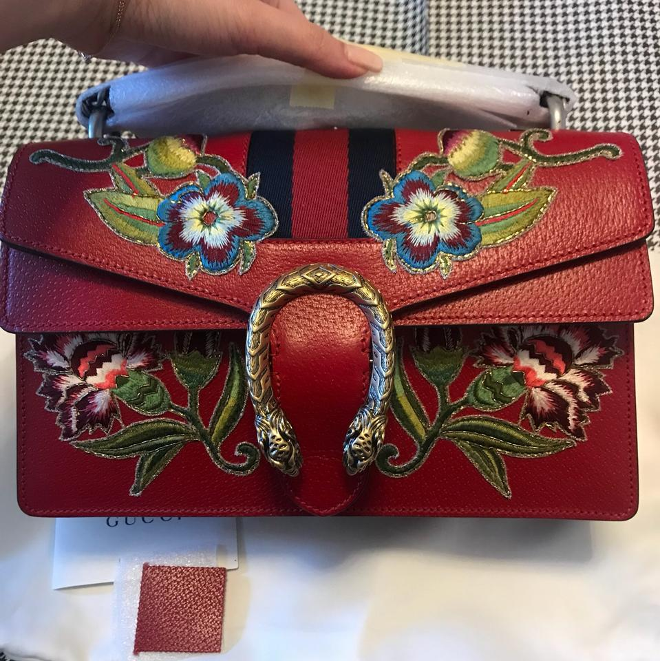 8e1b9bb20 Gucci Dionysus New Small Hibiscus Flowers Web Floral Embroidery Red ...