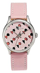 Coach COACH RUBY WATCH limited edition LEATHER STRAP checker heart W1546