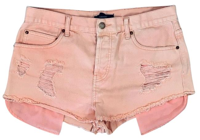 Item - Pink Mid-rise Distressed Ripped Daisy Dukes Denim Shorts Size 10 (M, 31)